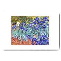 Vincent Van Gogh Irises Large Door Mat by MasterpiecesOfArt