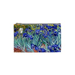 Vincent Van Gogh Irises Cosmetic Bag (small) by MasterpiecesOfArt