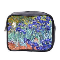 Vincent Van Gogh Irises Mini Travel Toiletry Bag (two Sides) by MasterpiecesOfArt