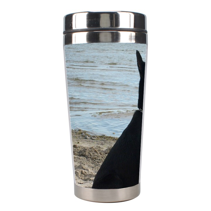 Black German Shepherd Stainless Steel Travel Tumbler