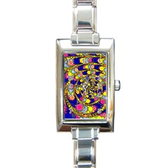 Wild Bubbles 1966 Rectangular Italian Charm Watch by ImpressiveMoments