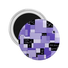 Purple Pain Modular 2 25  Button Magnet by FunWithFibro