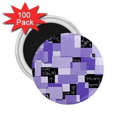 Purple Pain Modular 2 25  Button Magnet (100 Pack) by FunWithFibro