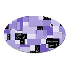 Purple Pain Modular Magnet (oval) by FunWithFibro