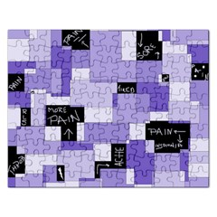 Purple Pain Modular Jigsaw Puzzle (rectangle) by FunWithFibro