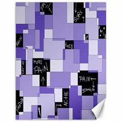 Purple Pain Modular Canvas 12  X 16  (unframed) by FunWithFibro