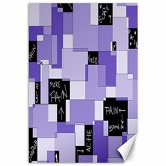 Purple Pain Modular Canvas 12  X 18  (unframed) by FunWithFibro