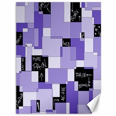 Purple Pain Modular Canvas 36  X 48  (unframed)