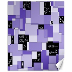 Purple Pain Modular Canvas 11  X 14  (unframed) by FunWithFibro