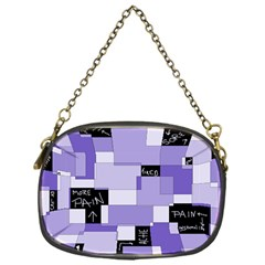 Purple Pain Modular Chain Purse (one Side) by FunWithFibro