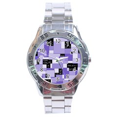 Purple Pain Modular Stainless Steel Watch by FunWithFibro