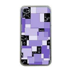 Purple Pain Modular Apple Iphone 4 Case (clear) by FunWithFibro