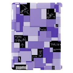 Purple Pain Modular Apple Ipad 3/4 Hardshell Case (compatible With Smart Cover) by FunWithFibro