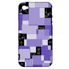 Purple Pain Modular Apple Iphone 4/4s Hardshell Case (pc+silicone) by FunWithFibro