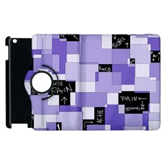 Purple Pain Modular Apple Ipad 3/4 Flip 360 Case by FunWithFibro
