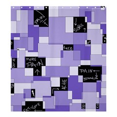 Purple Pain Modular Shower Curtain 66  X 72  (large) by FunWithFibro
