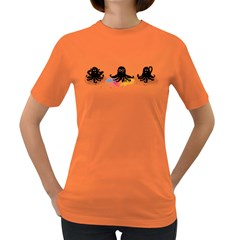 4 Color Squid Women s T Shirt (colored)