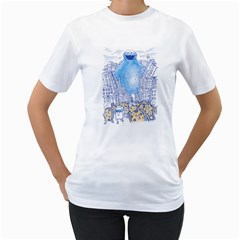 Monster In The City Women s T Shirt (white)  by Contest1836099