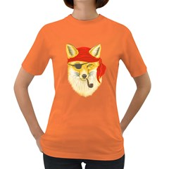 Foxy Pirate Women s T Shirt (colored)