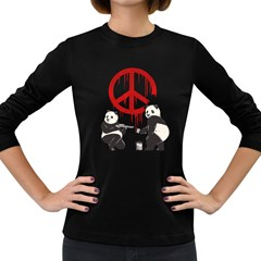Pandalism 2 Peace Sign Women s Long Sleeve T-shirt (dark Colored) by Contest1836099