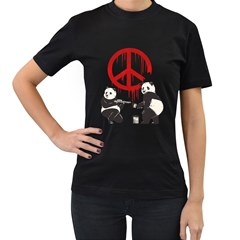 Pandalism 2 Peace Sign Women s T Shirt (black) by Contest1836099