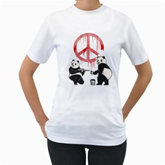 Pandalism 2 Peace Sign Women s T-shirt (white)