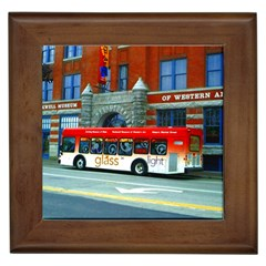 Double Decker Bus   Ave Hurley   Framed Ceramic Tile by ArtRave2