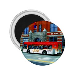 Double Decker Bus   Ave Hurley   2 25  Button Magnet by ArtRave2