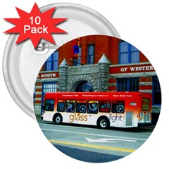 Double Decker Bus   Ave Hurley   3  Button (10 Pack) by ArtRave2