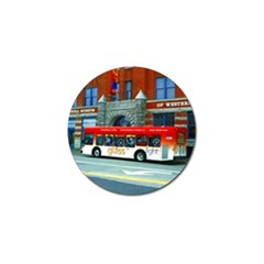 Double Decker Bus   Ave Hurley   Golf Ball Marker by ArtRave2