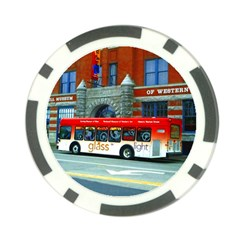 Double Decker Bus   Ave Hurley   Poker Chip (10 Pack) by ArtRave2