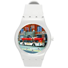Double Decker Bus   Ave Hurley   Plastic Sport Watch (medium) by ArtRave2