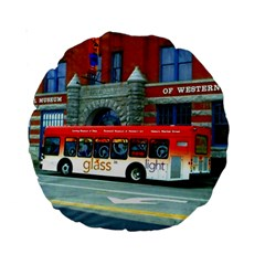 Double Decker Bus   Ave Hurley   15  Premium Round Cushion  by ArtRave2
