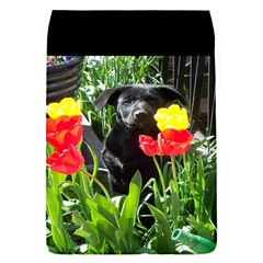 Black Gsd Pup Removable Flap Cover (small) by StuffOrSomething