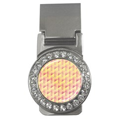 Geometric Pink & Yellow  Money Clip (cz) by Zandiepants