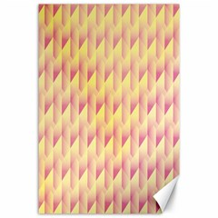 Geometric Pink & Yellow  Canvas 24  X 36  (unframed) by Zandiepants