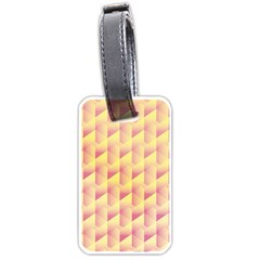 Geometric Pink & Yellow  Luggage Tag (one Side) by Zandiepants