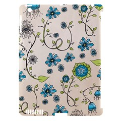 Whimsical Flowers Blue Apple Ipad 3/4 Hardshell Case (compatible With Smart Cover) by Zandiepants