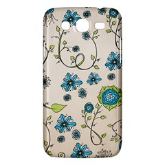 Whimsical Flowers Blue Samsung Galaxy Mega 5 8 I9152 Hardshell Case  by Zandiepants