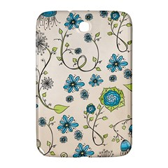 Whimsical Flowers Blue Samsung Galaxy Note 8 0 N5100 Hardshell Case  by Zandiepants