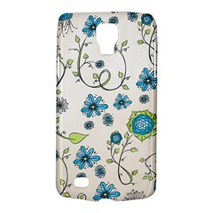 Whimsical Flowers Blue Samsung Galaxy S4 Active (i9295) Hardshell Case by Zandiepants