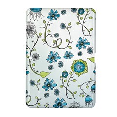 Blue Whimsical Flowers  On Blue Samsung Galaxy Tab 2 (10 1 ) P5100 Hardshell Case  by Zandiepants