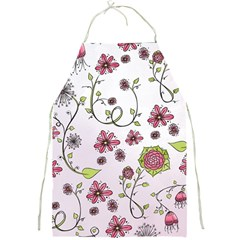 Pink Whimsical Flowers On Pink Apron by Zandiepants