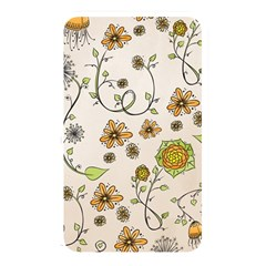 Yellow Whimsical Flowers  Memory Card Reader (rectangular) by Zandiepants