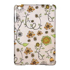 Yellow Whimsical Flowers  Apple Ipad Mini Hardshell Case (compatible With Smart Cover) by Zandiepants