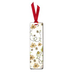 Yellow Whimsical Flowers  Small Bookmark by Zandiepants