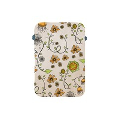 Yellow Whimsical Flowers  Apple Ipad Mini Protective Sleeve by Zandiepants