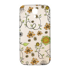 Yellow Whimsical Flowers  Samsung Galaxy S4 I9500/i9505  Hardshell Back Case by Zandiepants