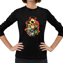 Despicable Avengers Women s Long Sleeve T Shirt (dark Colored)