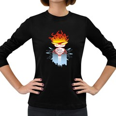 Captain Flame Women s Long Sleeve T-shirt (dark Colored) by Contest1853705